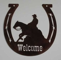 Horseshoe Welcome Sign - Reiner