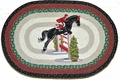Jumping Horse Oval Jute Rug