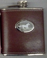 Leather Cover Stainless Steel Flask