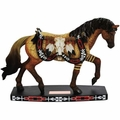 Longhorn Southwest Decorated Horse Figurine