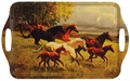 Melamine Serving Tray in Wild Horses