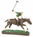 Polo Player and Horse in Action Figurine