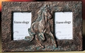 Running Horse Double Photo Frame