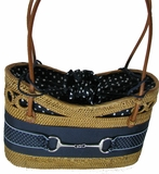Snaffle Bit Wicker Handbag
