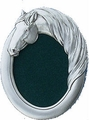 Solid Pewter  Oval Horse Head Picture Frame