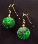 Carved Bead Earrings