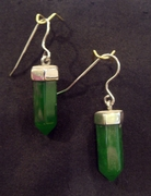 Five-Sided Jade Earrings