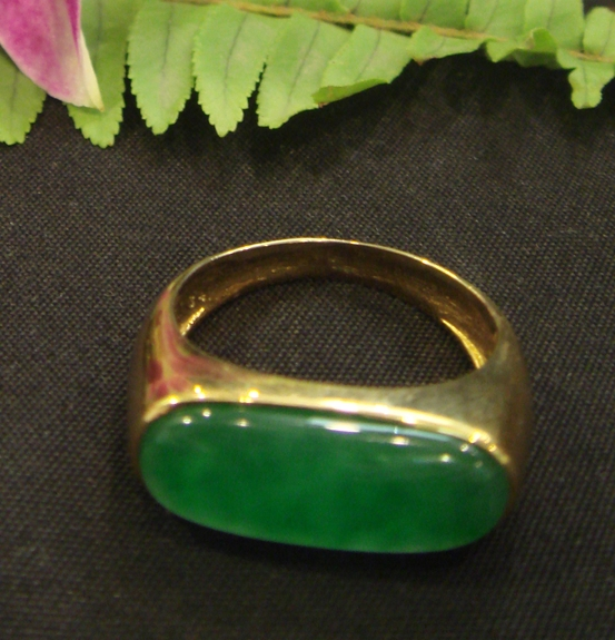 Imperial Jade Ring - Gold