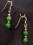 Polar Jade beaded earring