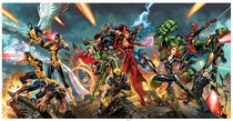 The Avengers/X-Men TriCover X-tra Large Print (SIGNED)