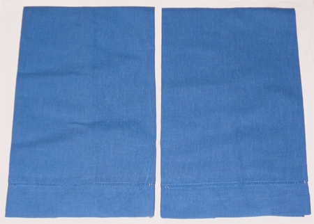 6 Baby Blue Guest Towels