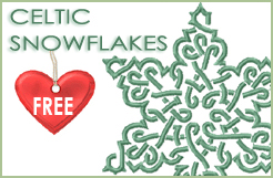 6 Celtic Snowflakes