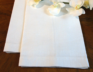 6 Creamy Natural Kitchen Towels