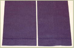 6 Deep Violet Guest Towels