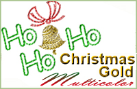 Christmas Gold Multicolor 4x4
