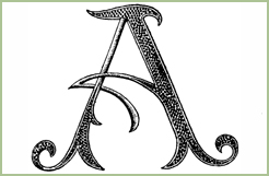 Jacobean Accent Alphabet