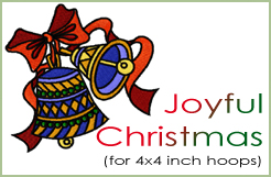 Joyful Christmas for 4x4 hoop