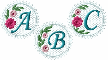 Lacy Roses Monograms