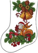 Little Squirrels Stocking