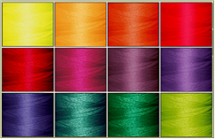 Major Colors 12-cone Polyester Thread Kit