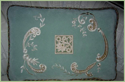NEW  Cutwork and Lace Pillow