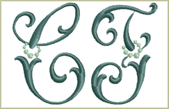 New Embroidery Fonts<br>August 2, 2012