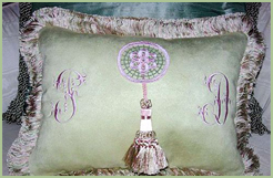 Pillow with Tassel & Lace Medallion
