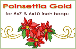 Poinsettia Gold 5x7 & 6x10