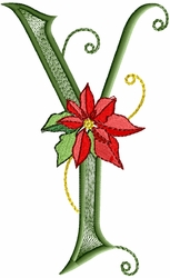 Poinsettia Gold - Letter Y