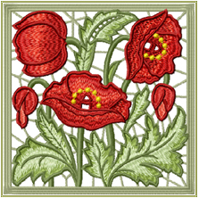 Poppy Lace Square
