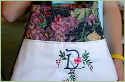 Purse with Spring Touch font