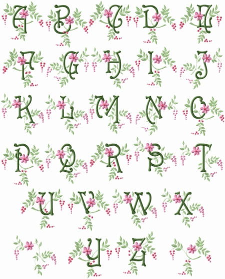 Spring Touch Monograms