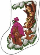 Squirrel Family Stocking