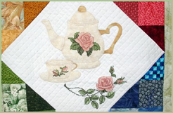 Teatime Among Roses quilt