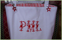 Tote Bag with Royal Heritage Initials