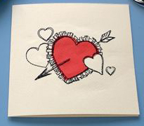 Valentine Card with Heart Design