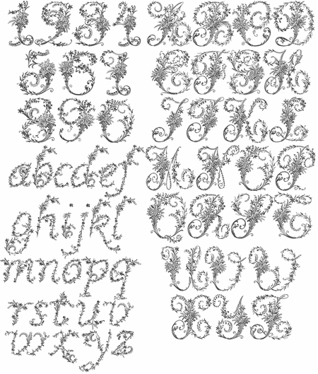 Victorian Whitework Font - Complete