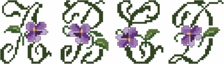 Violets XS Font Small