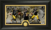 Ben Roethlisberger Bronze Coin Panoramic Photo Mint