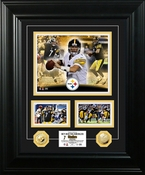 "Ben Roethlisberger ""Marquee"" Gold Coin Photo Mint Framed Picture"