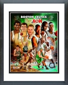 2008 Boston Celtics Then & Now Composite Framed Picture