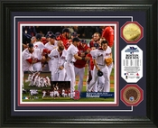 Boston Red Sox 2013 AL Champions Celebration Dirt Coin Photo Mint