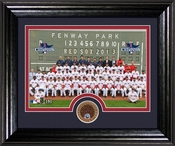 "Boston Red Sox 2013 World Series Champions ""Team"" Dirt Coin Desktop Photo Mint"