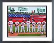 Boston Red Sox 2014 World Series Ring Ceremony Framed Picture