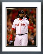 David Ortiz Game 6 of the 2013 World Series Action Framed Picture