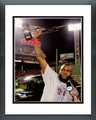 David Ortiz with the 2013 World Series MVP Trophy Game 6 of the 2013 World Series Framed Picture
