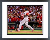 Jonny Gomes 3 Run Home Run Game 4 of the 2013 World Series Framed Picture