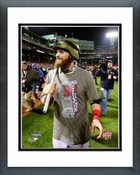 Jonny Gomes celebrates winning Game 6 of the 2013 World Series Framed Picture