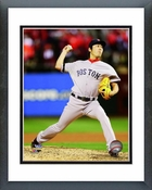 Koji Uehara Game 4 of the 2013 World Series Action Framed Picture