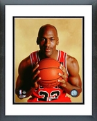 Michael Jordan 1990 Posed Framed Picture 8x10